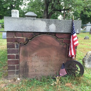 Abraham Woodhull's Gravestone