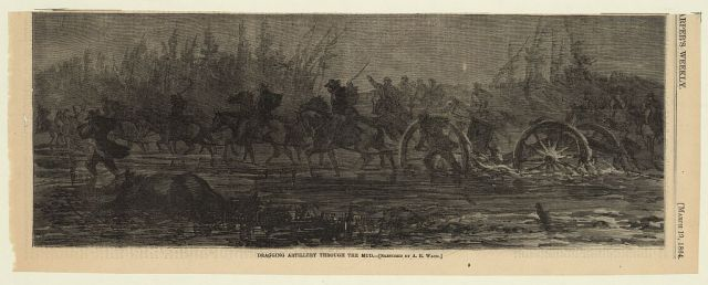 Dragging artilary through the mud - 1864 Library of Congress http://www.loc.gov/pictures/resource/ppmsca.21013/